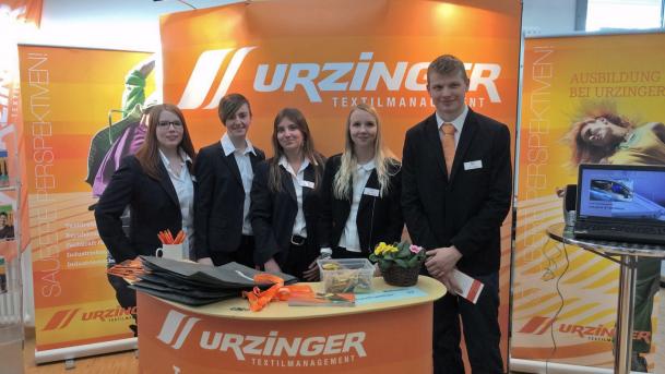 Urzinger Textilmanagement bei der Berufsinfomesse 2017