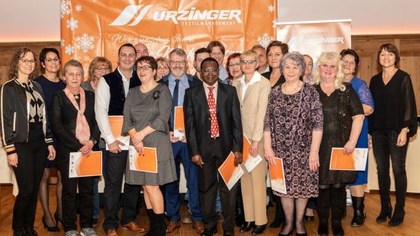Urzinger Textilmanagement ehrt langjährige Mitarbeiter