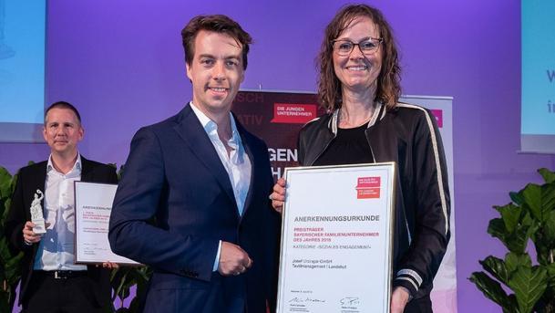 Urzinger mit Bayerischem Familienunternehmerpreis ausgezeichnet